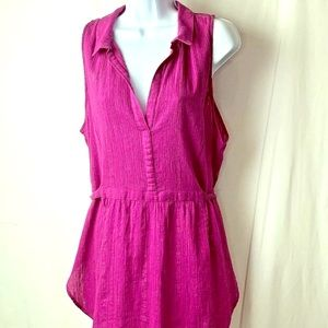 Anthropologie Maeve Size XL Fuchsia Sleeveless Top